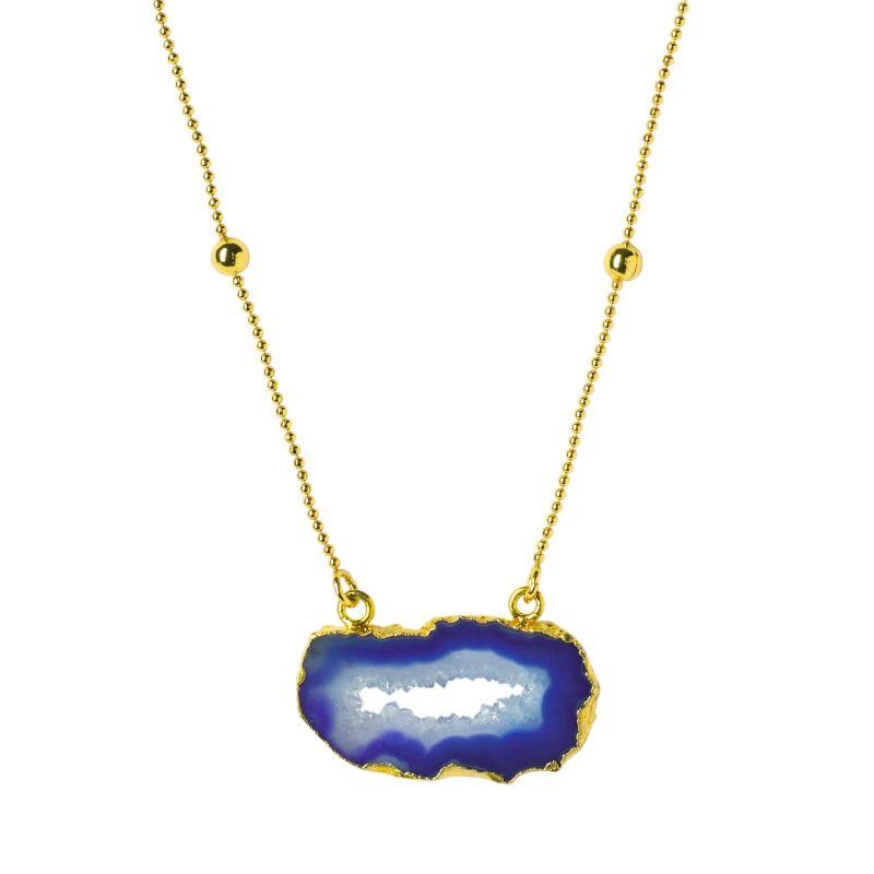 Deep Love Cobalt Crystal Gold Vermeil Necklace image