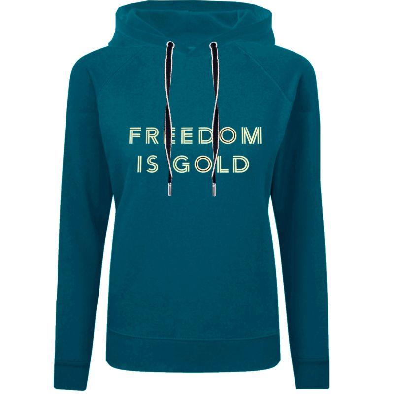 Petrol Blue Sweatshirt Hoodie Freedom image