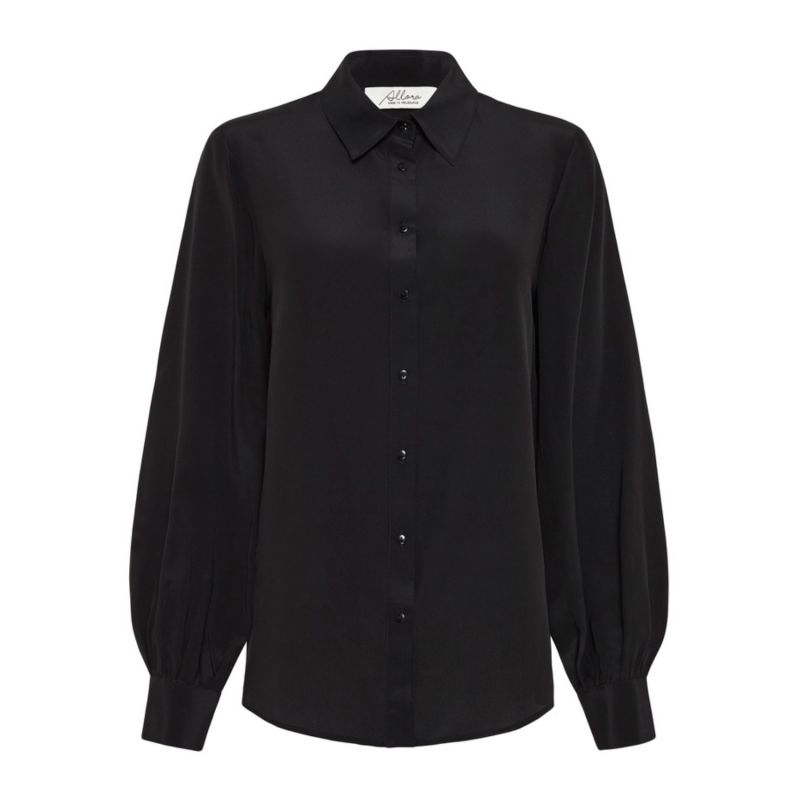 Manhattan 100% Silk Shirt - Black image