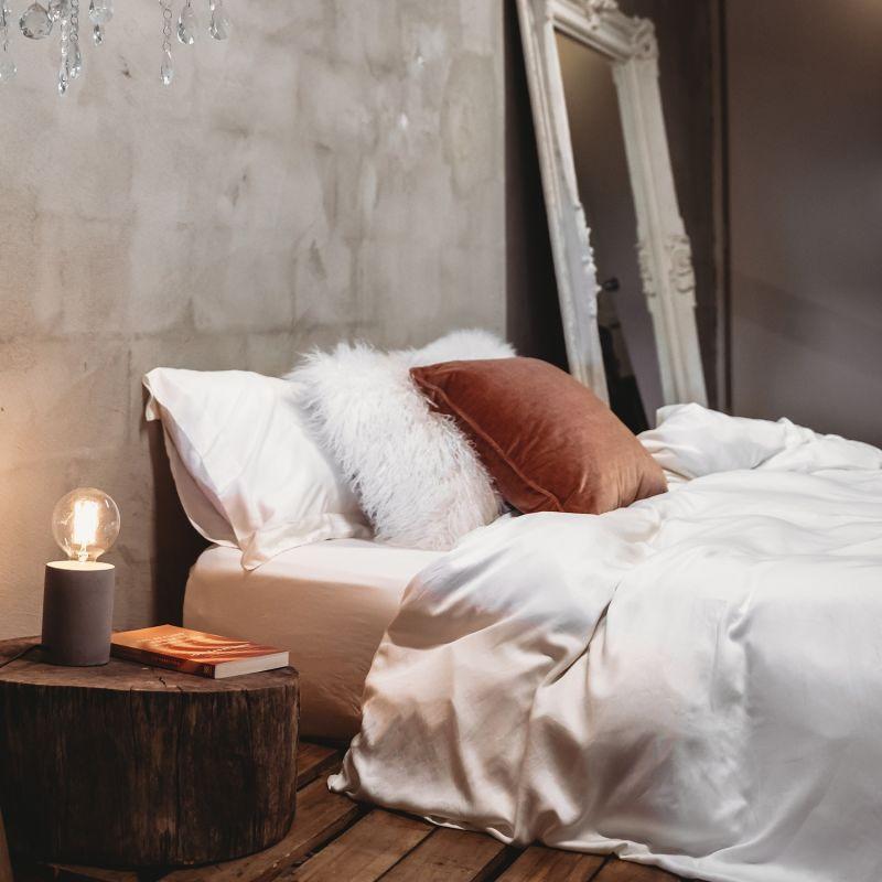 Australian King Bamboo Duvet Cover With 2 Pillow Slips - UK Super King In Cream image