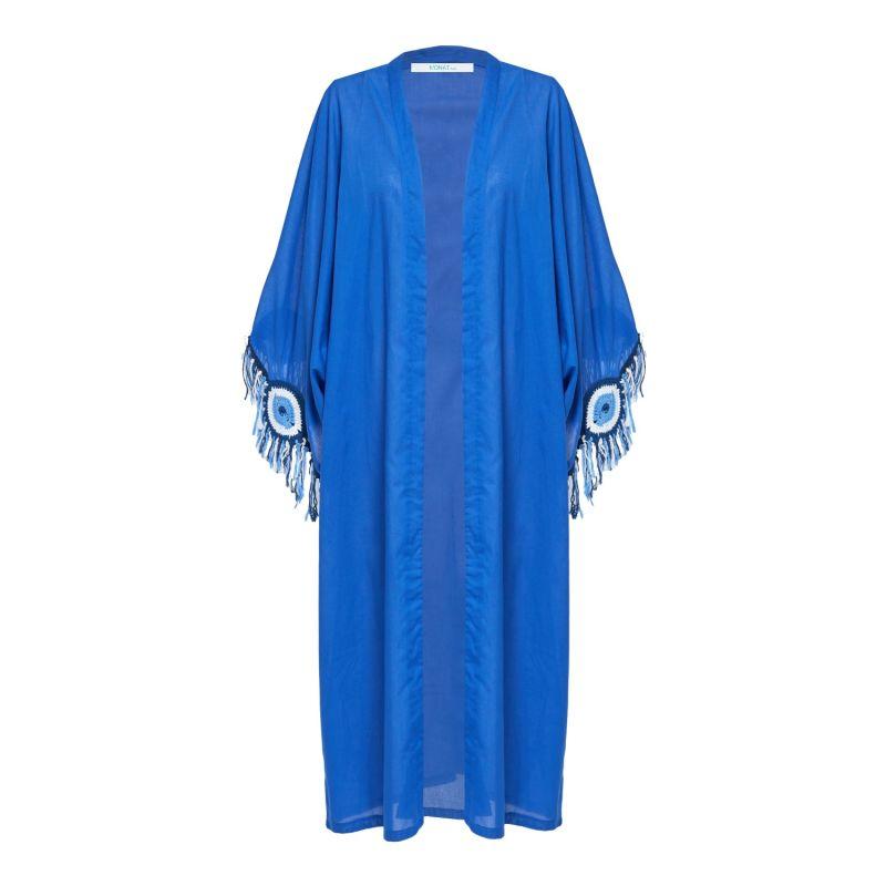 Evil Eye Kaftan In Blue image
