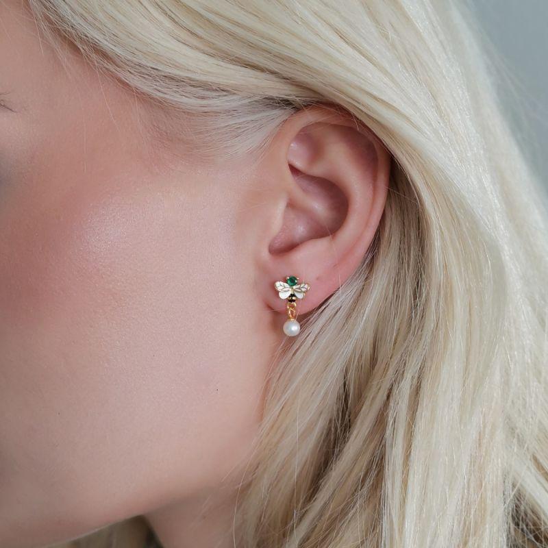 Bumblebee Pearl Earrings image