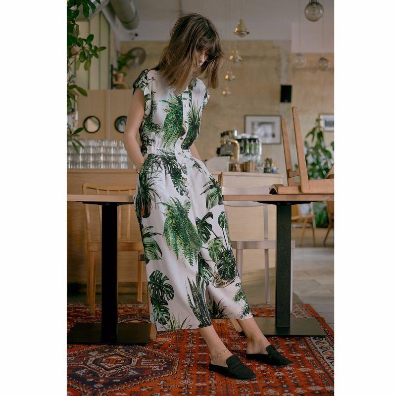 Plants Print Jumpsuit image