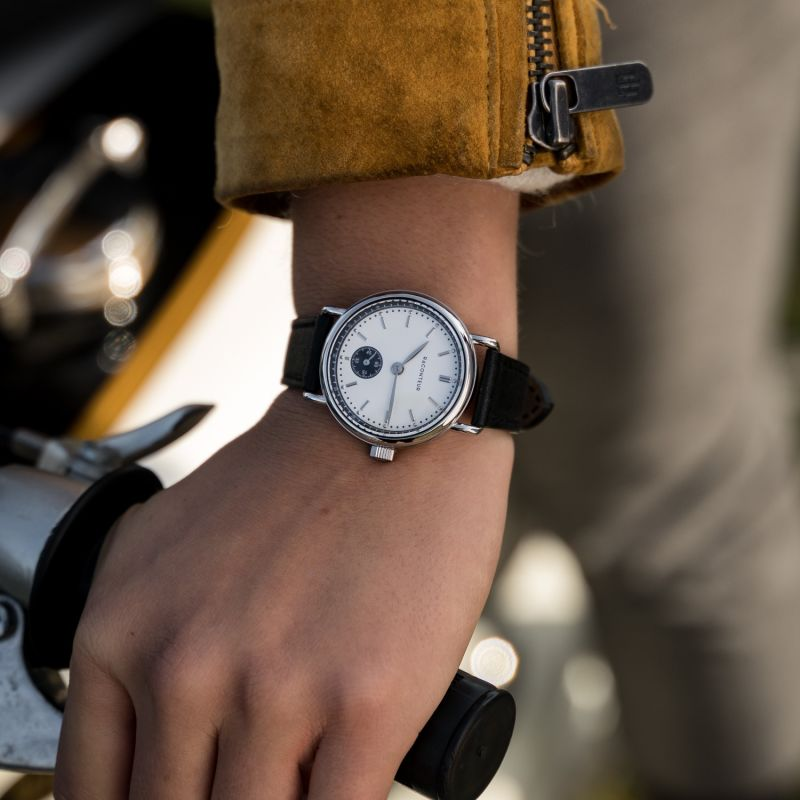 Earhart Silver White - Tan Leather image