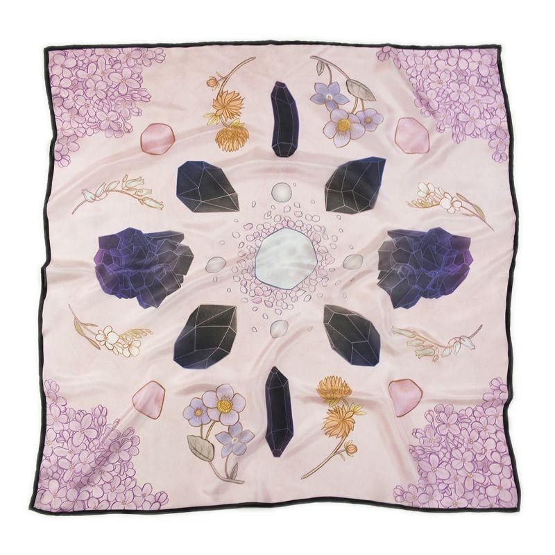 Crystal Grid Silk Scarf - Square image