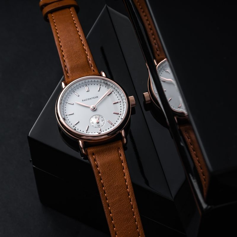 Earhart Rose Gold White - Bordeaux Leather image