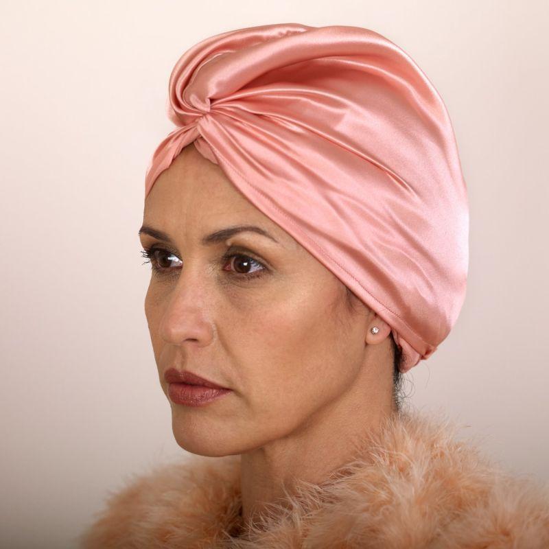Pure Mulberry Silk Hair Turban Rose image