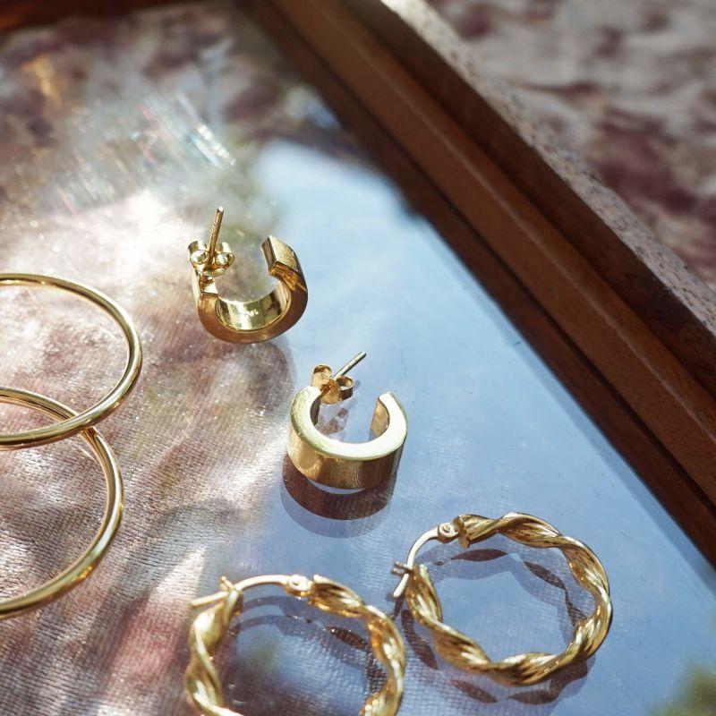 Pawnshop Signature Gold Chunky Hoop Earrings image
