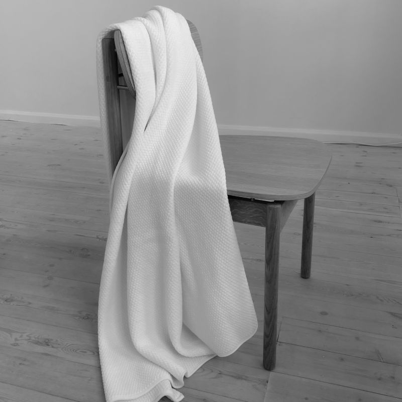 Riverside Wool Blanket - White - 130 x 190cm image