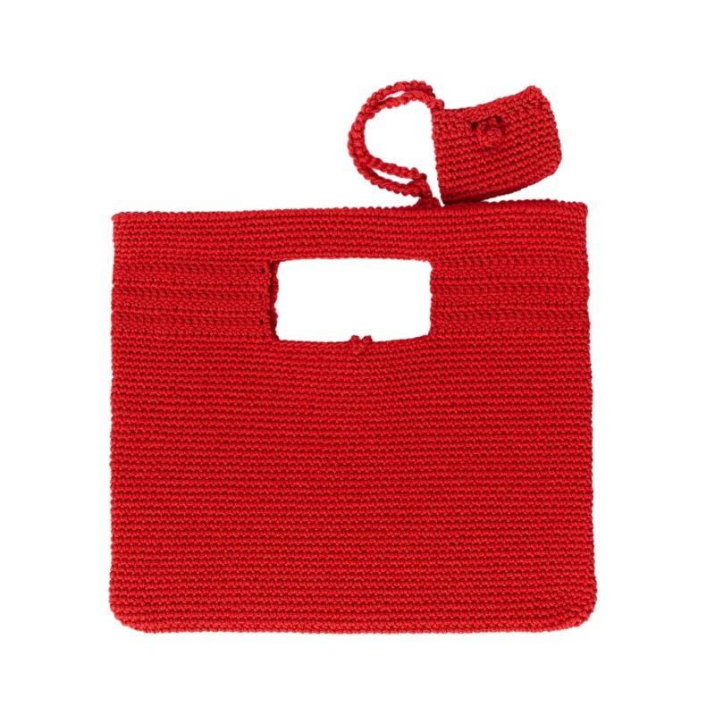 Santorini Crochet Bag in Red image