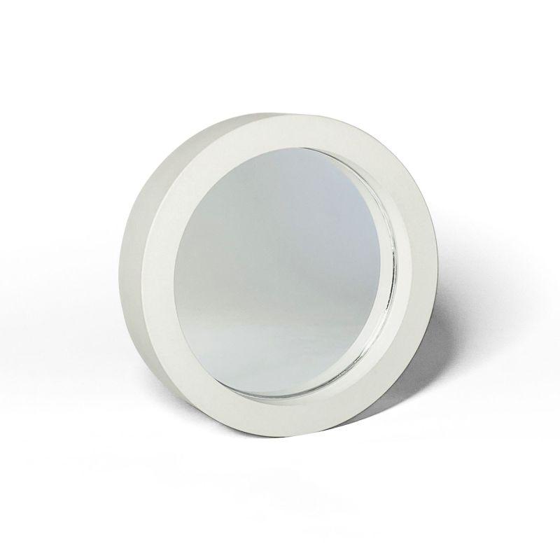 White Concrete Table MIrror image