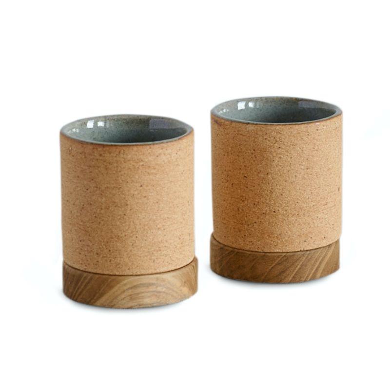 Dode Small Ceramic Tea & Espresso Cup Set - Natural Earth Green image