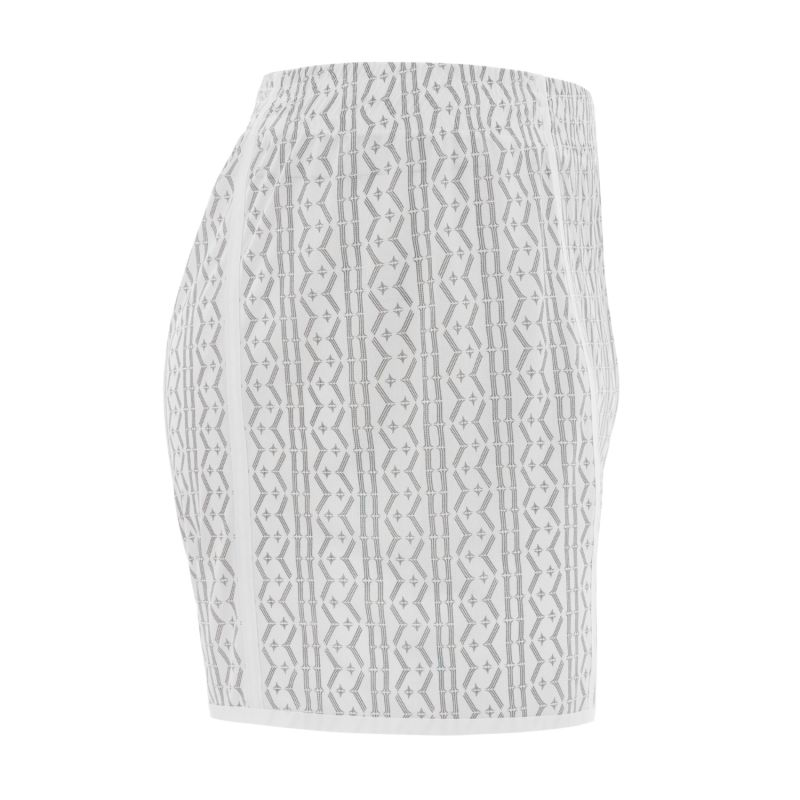 Hugh Comfort Mesh Lounge Shorts White / Black image