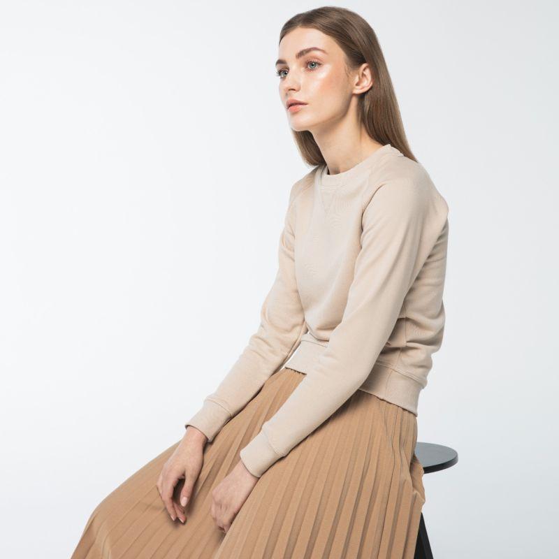 Women's Raglan Sweatshirt Beige image