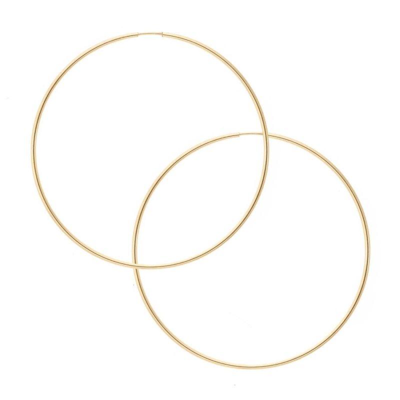 Audrey Large Infinity Hoop - Sterling Silver image