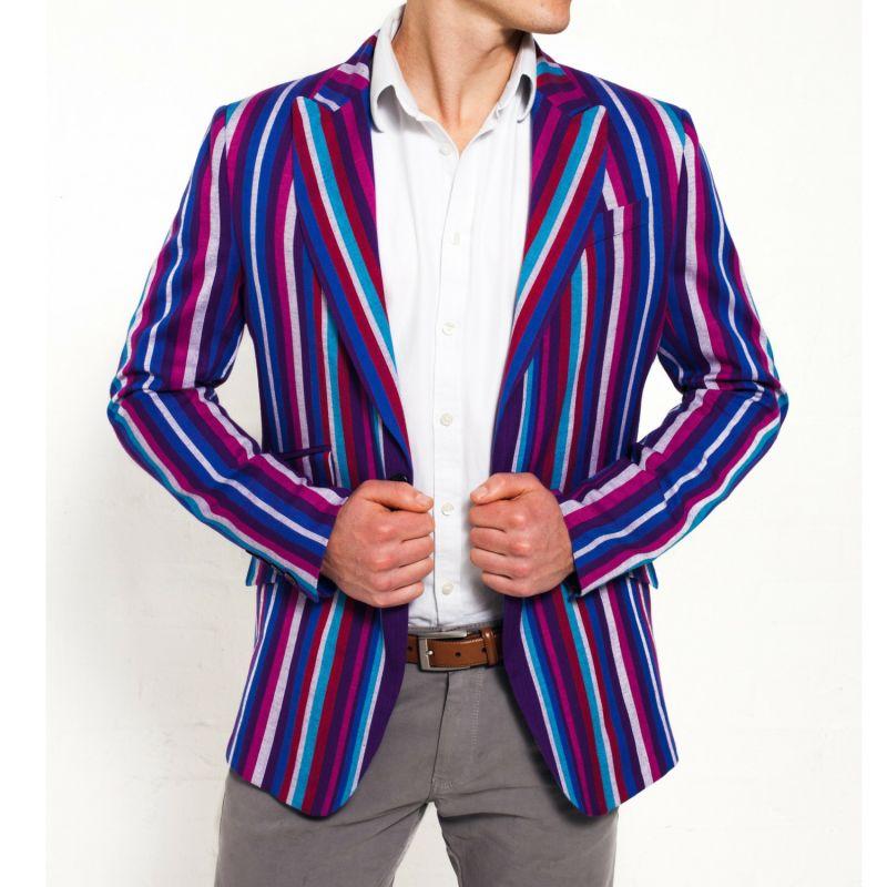 Purple Striped Blazer Kamba image
