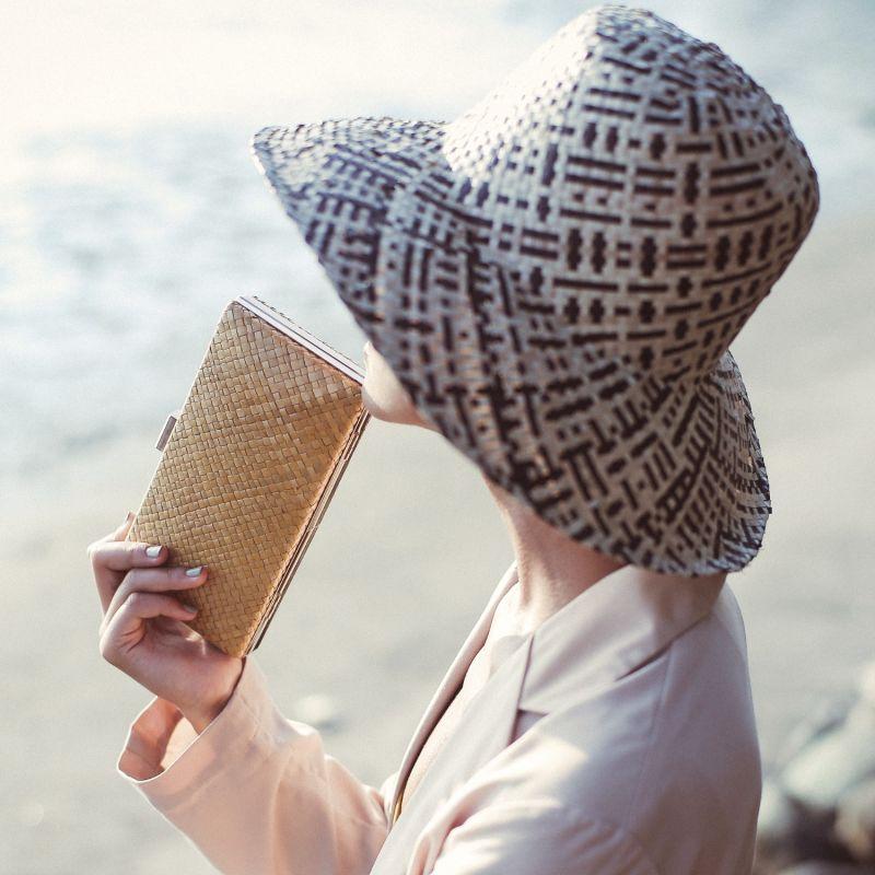 Gitta Nata Handwoven Straw Clutch image