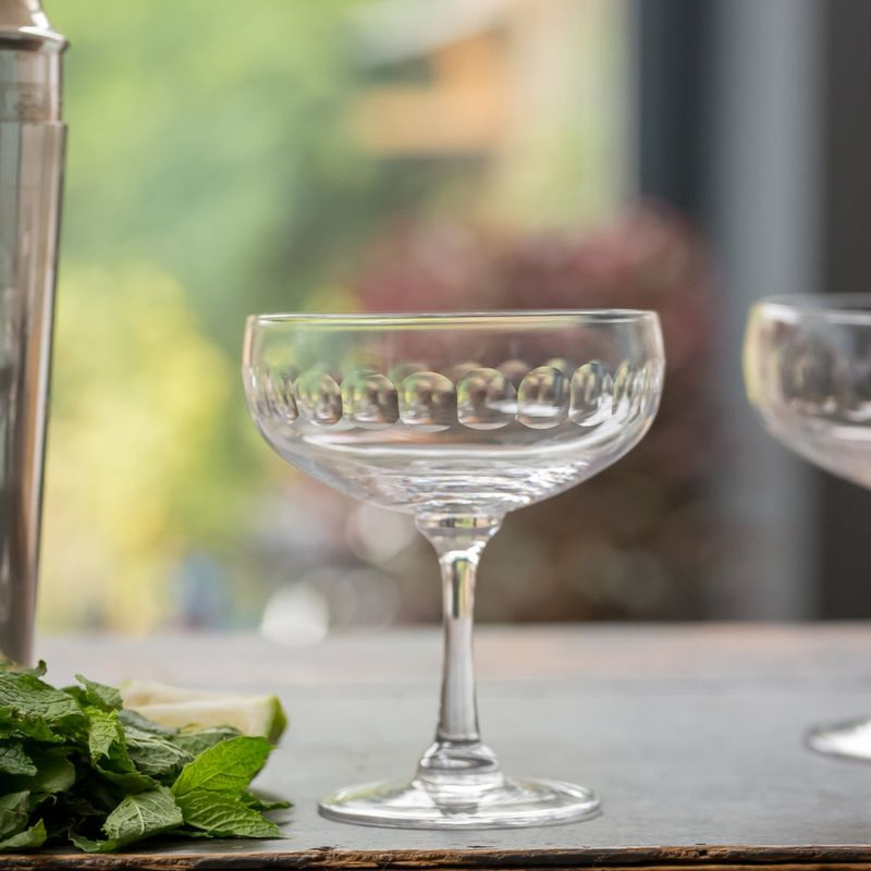 A Set Of Four Cocktail Glasses With Lens Design image