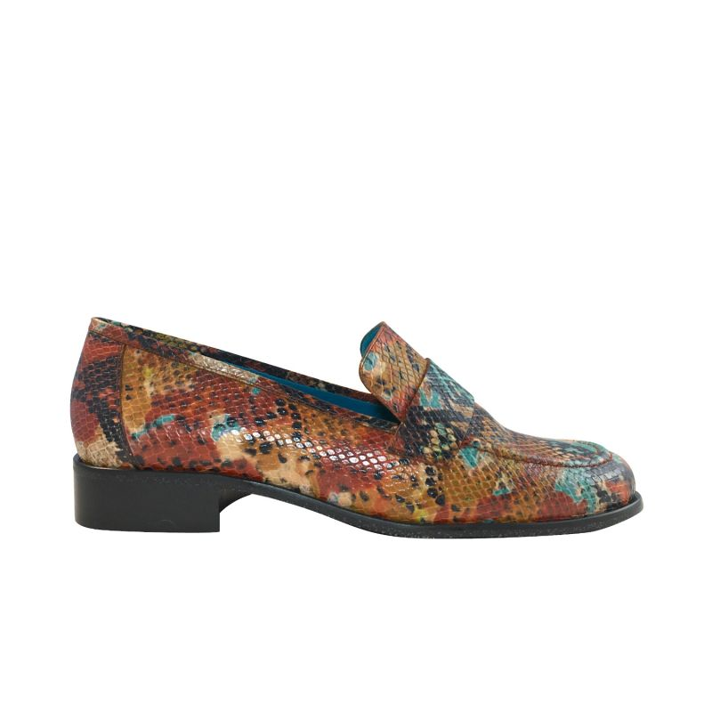 Amalia Multicolor Snake Print Loafers image
