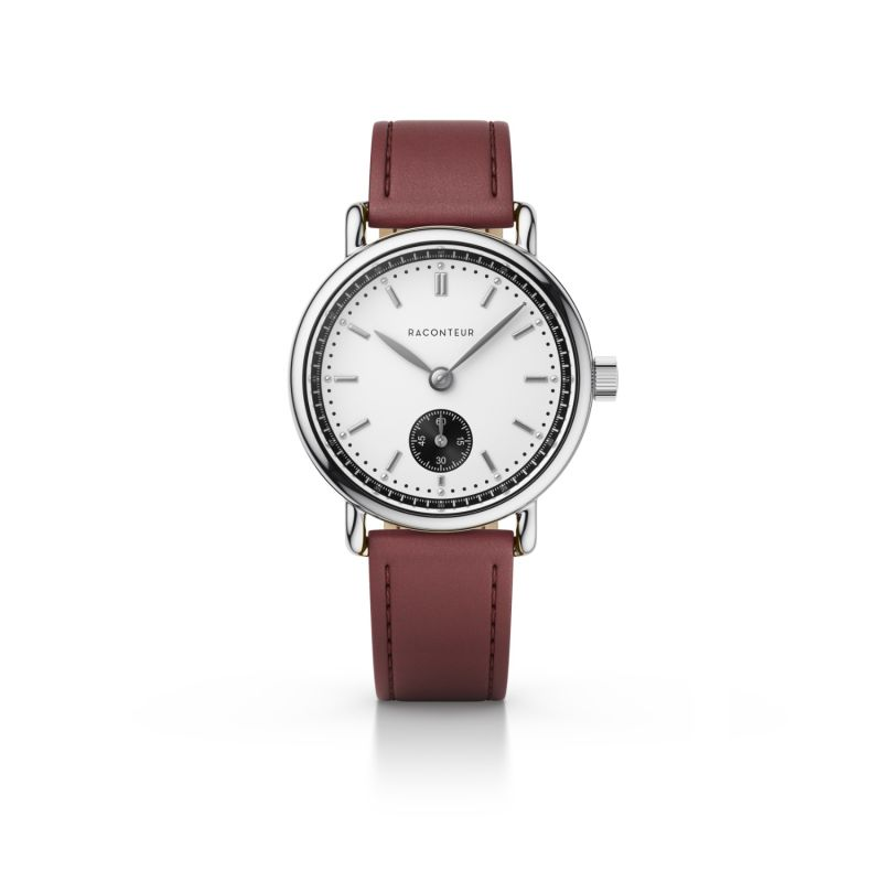 Earhart Silver White - Bordeaux Leather image