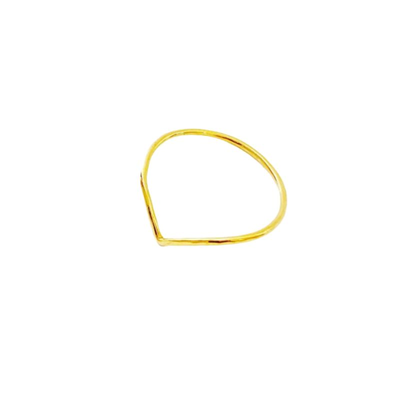 Gold Band Chevron Ring image
