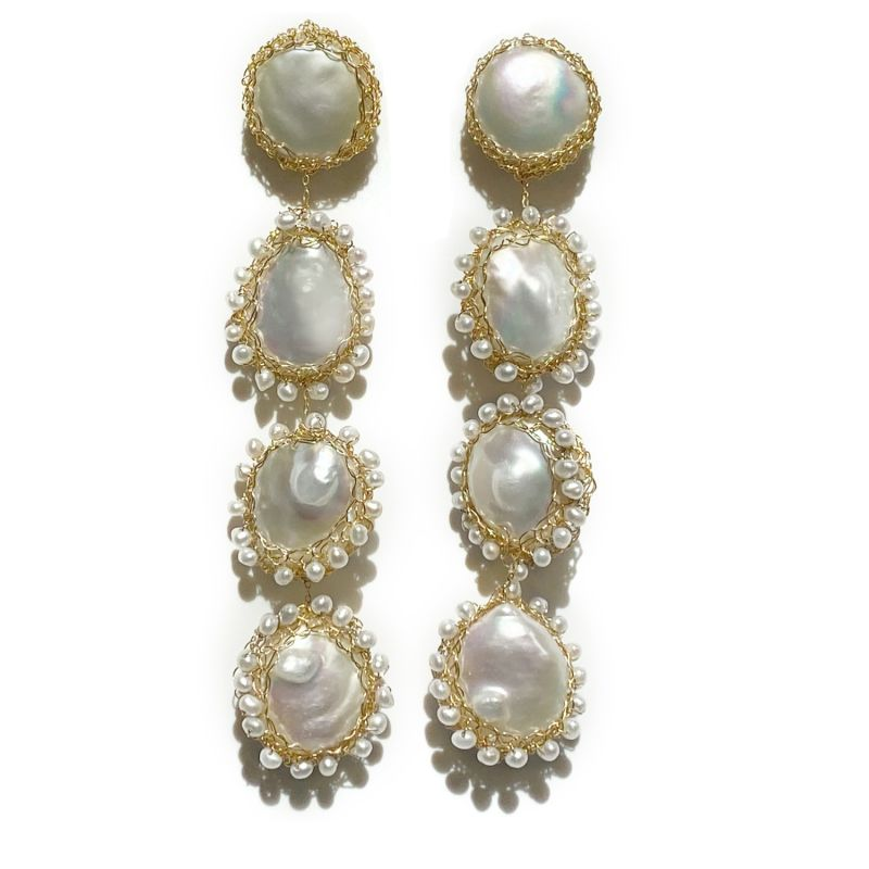 Polka 14K Recycled Gold-Filled Freshwater Baroque Pearl Drop Earrings image