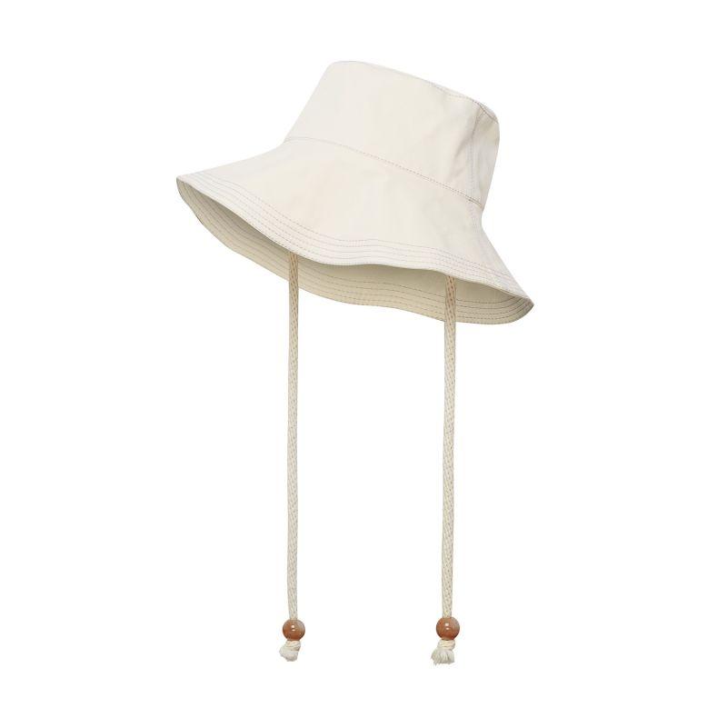White Organic Cotton Bucket Hat image