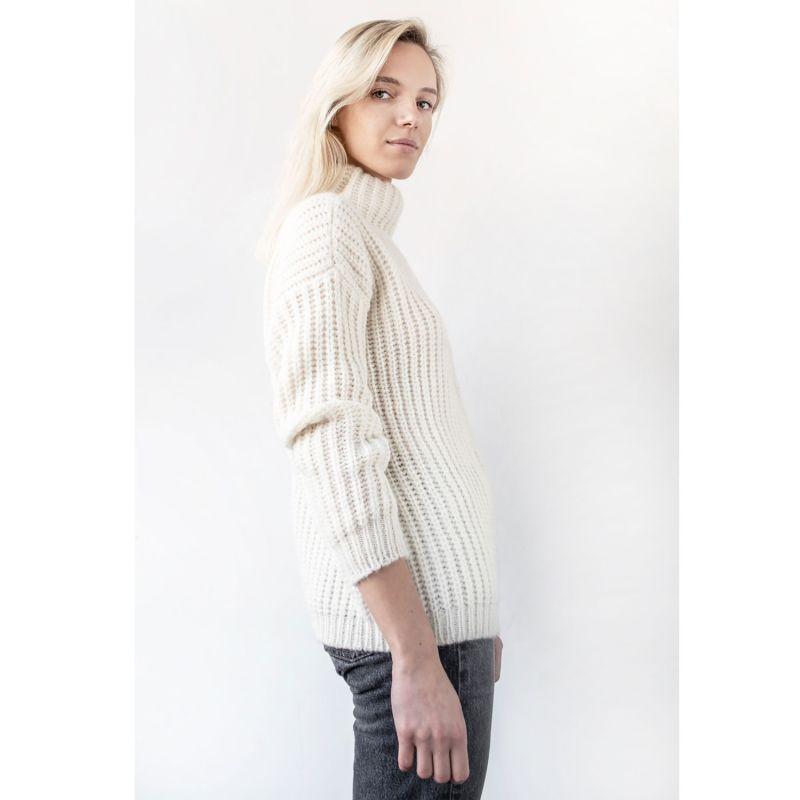 Corto Alpaca Blend Sweater - White image