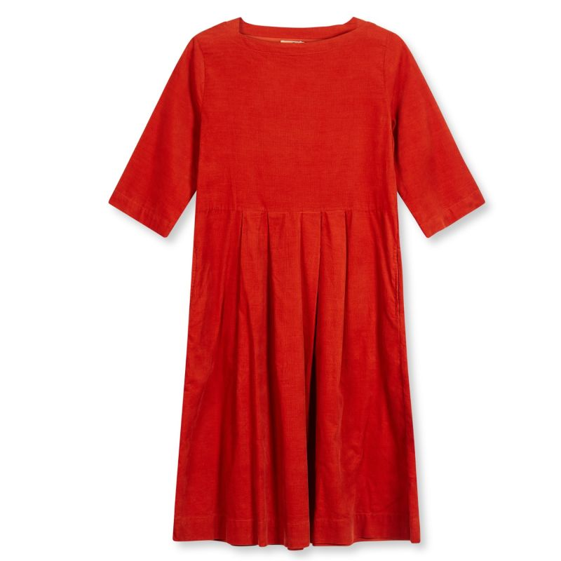 Women's Needlecord Dress - Rust image