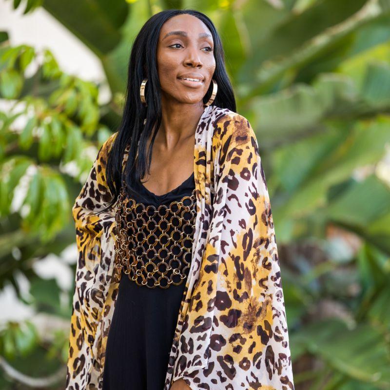 Leah Leopard Kimono image