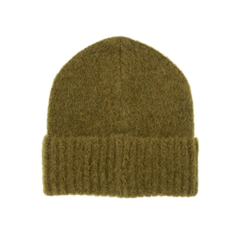 The Mohair Beanie In Moss Wood Green image