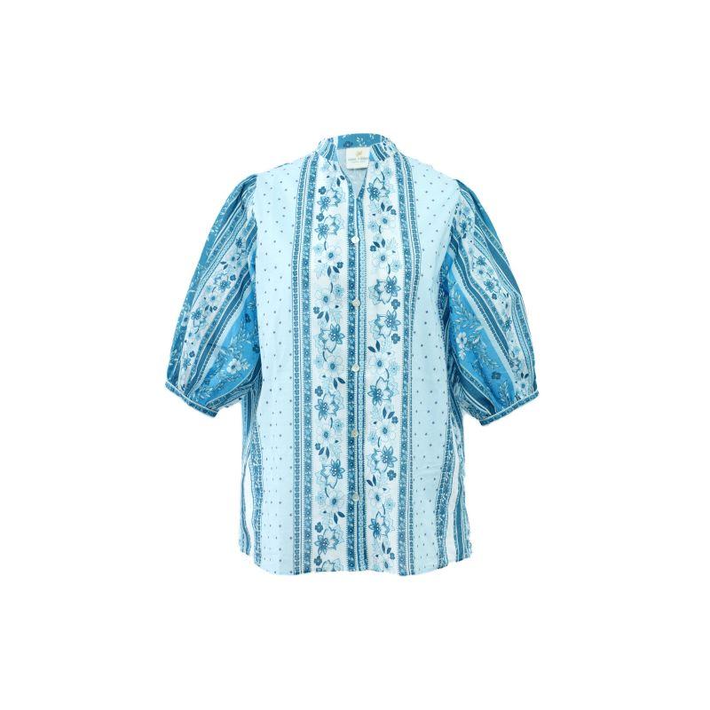 Cici Cotton Blue Blouse image