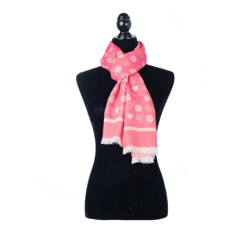 Luxury All Season Oblong Wrap Scarf Red image