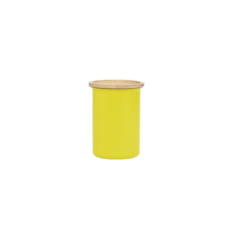 Ayasa Yellow Jar With A Wooden Lid, 0.75L image