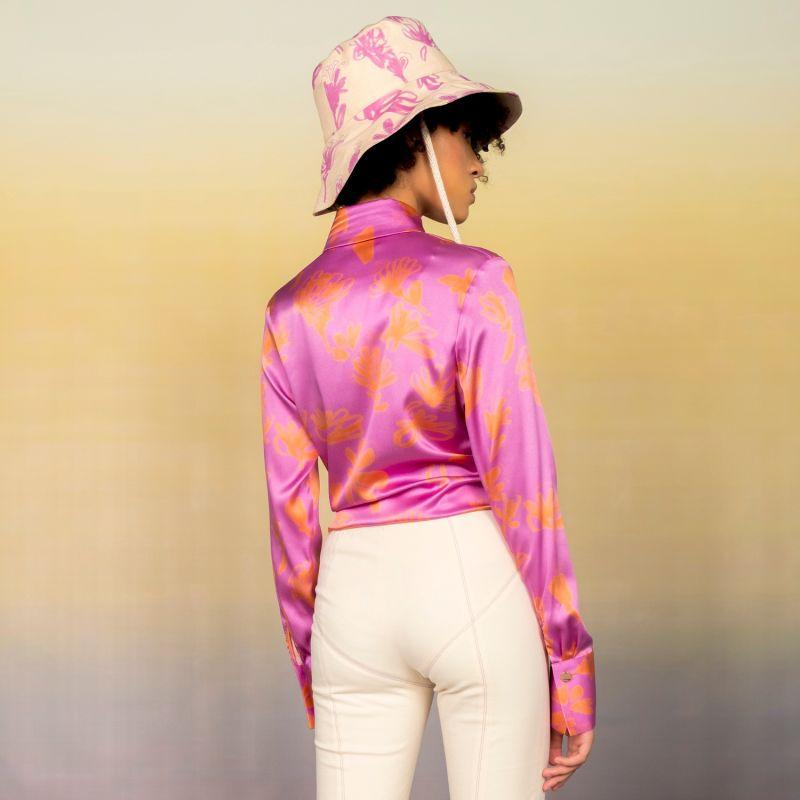 Organic Silk Tie-Front Shirt image