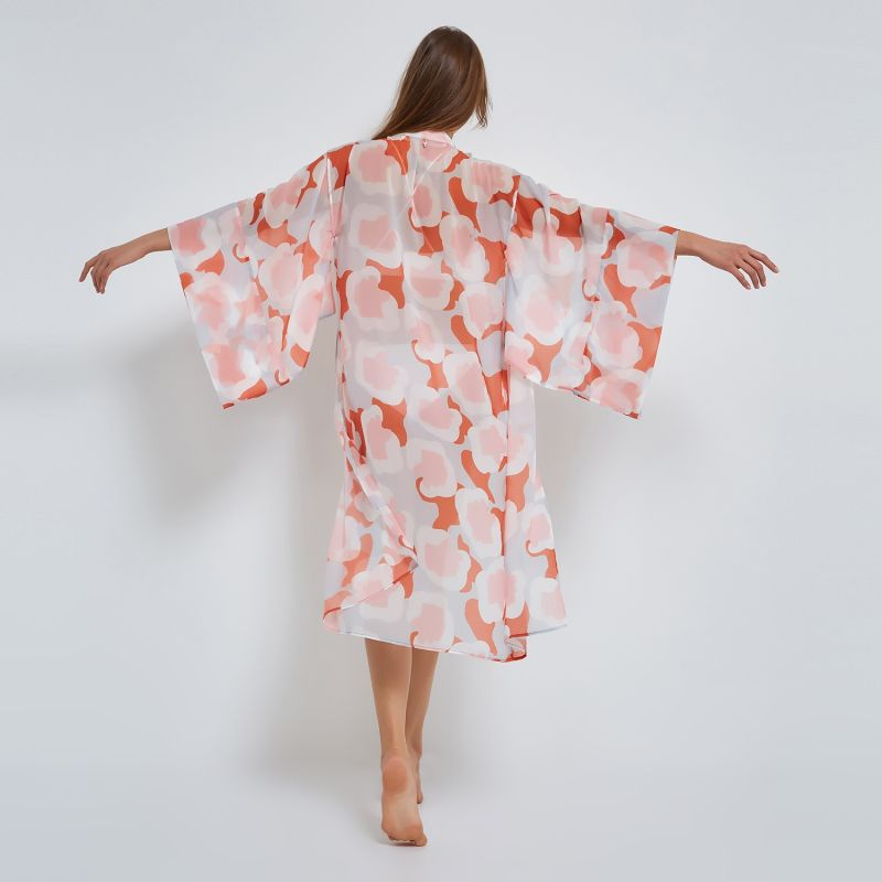 Flower Kimono in Coral image