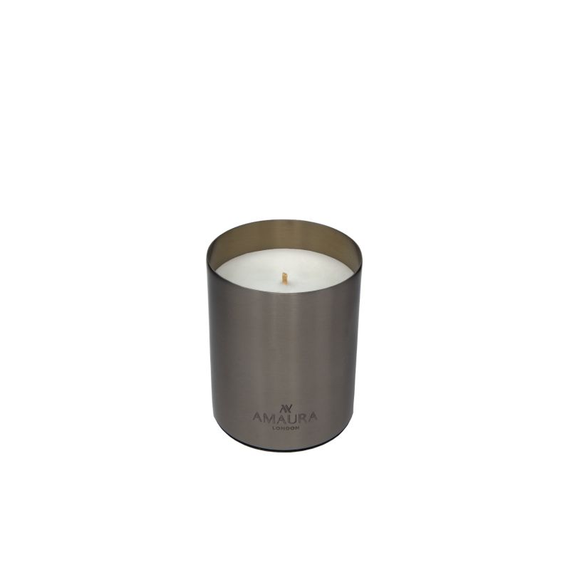 Allure Patchouli, Ylang Ylang & Magnolia Blossom Eco-Luxury Candle In Stainless Steel Chrome Finish image