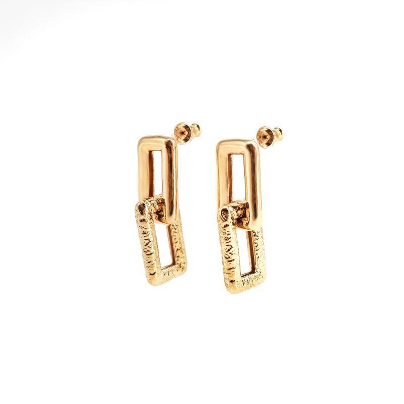 Geo Maxi Gold Earrings image