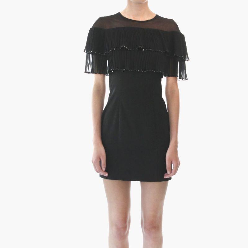 Karina Crystal Embellished Pleated Mini Dress image
