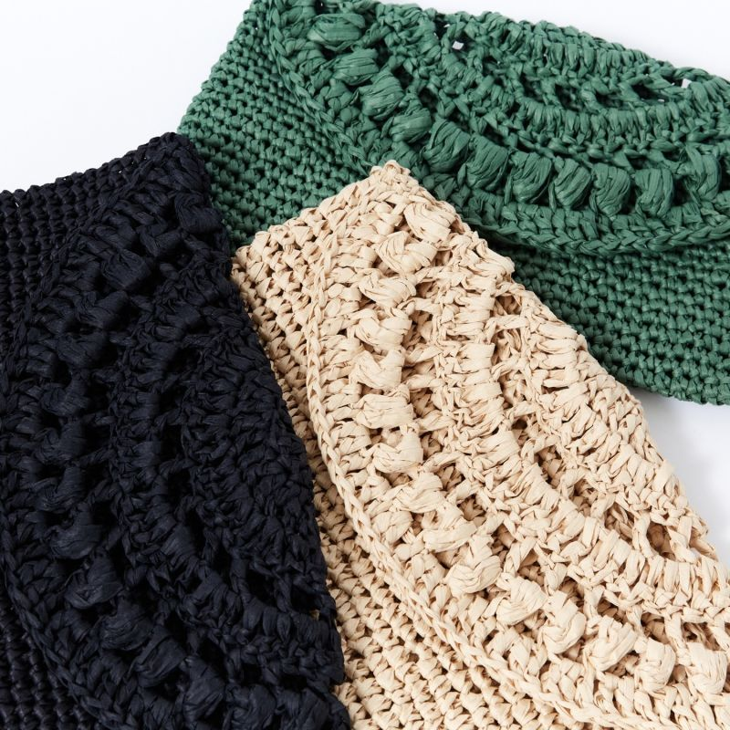 Cunda Crochet Clutch Bag In Green image