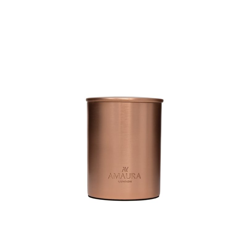 Allure Patchouli, Ylang Ylang & Magnolia Blossom Eco-Luxury Candle In Pure Copper Rose Gold Finish image