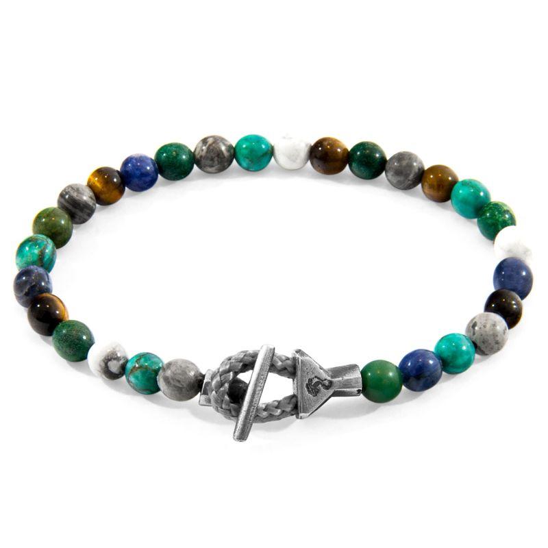 Multicoloured Multi-Gem Mantaro Silver & Stone Bracelet image