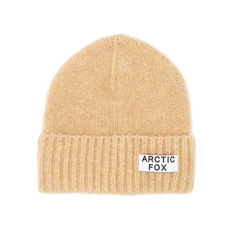 The Mohair Beanie In Camel Beige image