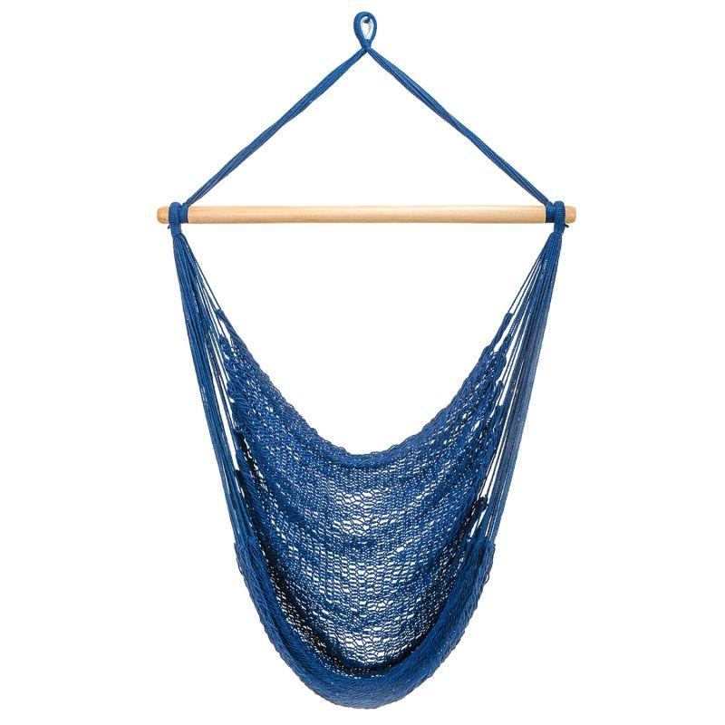 Navy Blue Cotton Hammock Swing image