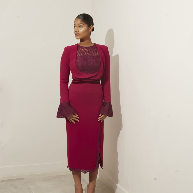 Josee Midi Dress Violent Rose image