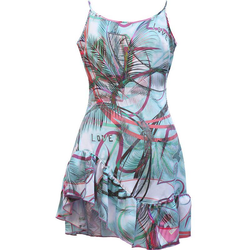 Tropical Palm Print Silk Cami Dress image