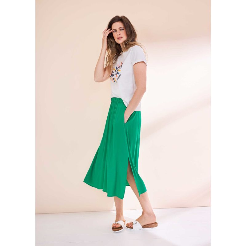 Emerald Ecovero Midi Skirt image