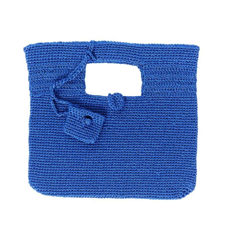 Santorini Crochet Bag in Sax Blue image
