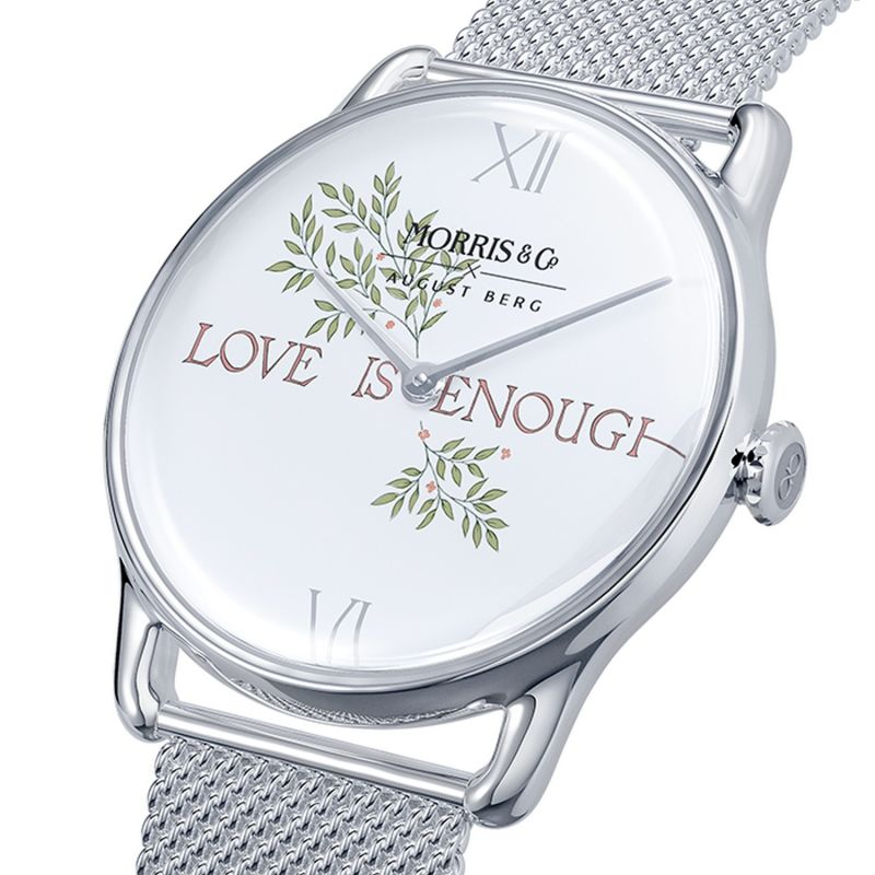 Morris & Co. Pure Silver Love Is Enough - Silver Mesh 38mm image