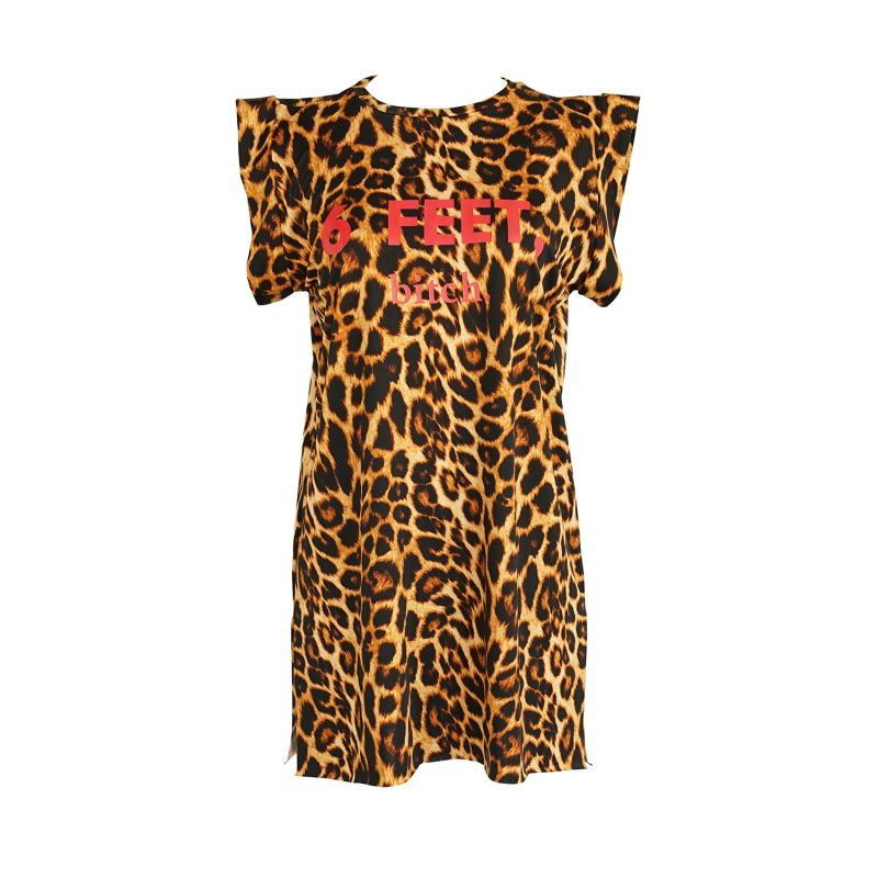 6 Feet, Bitch Tunic In Leopard image